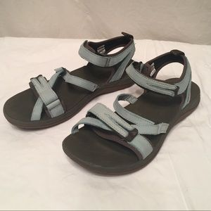 Beautiful surf blue Merrell sandals